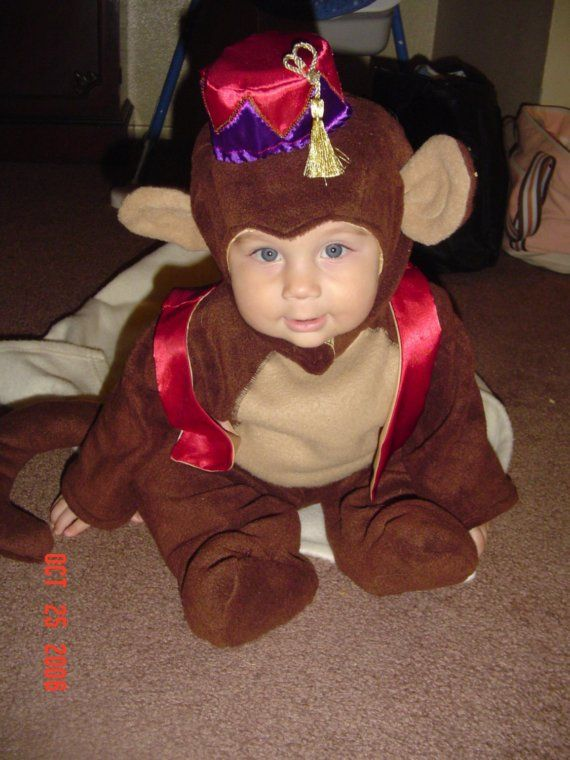 Abu From Aladdin Monkey Costume Size 1T By Syndiscreations -5084