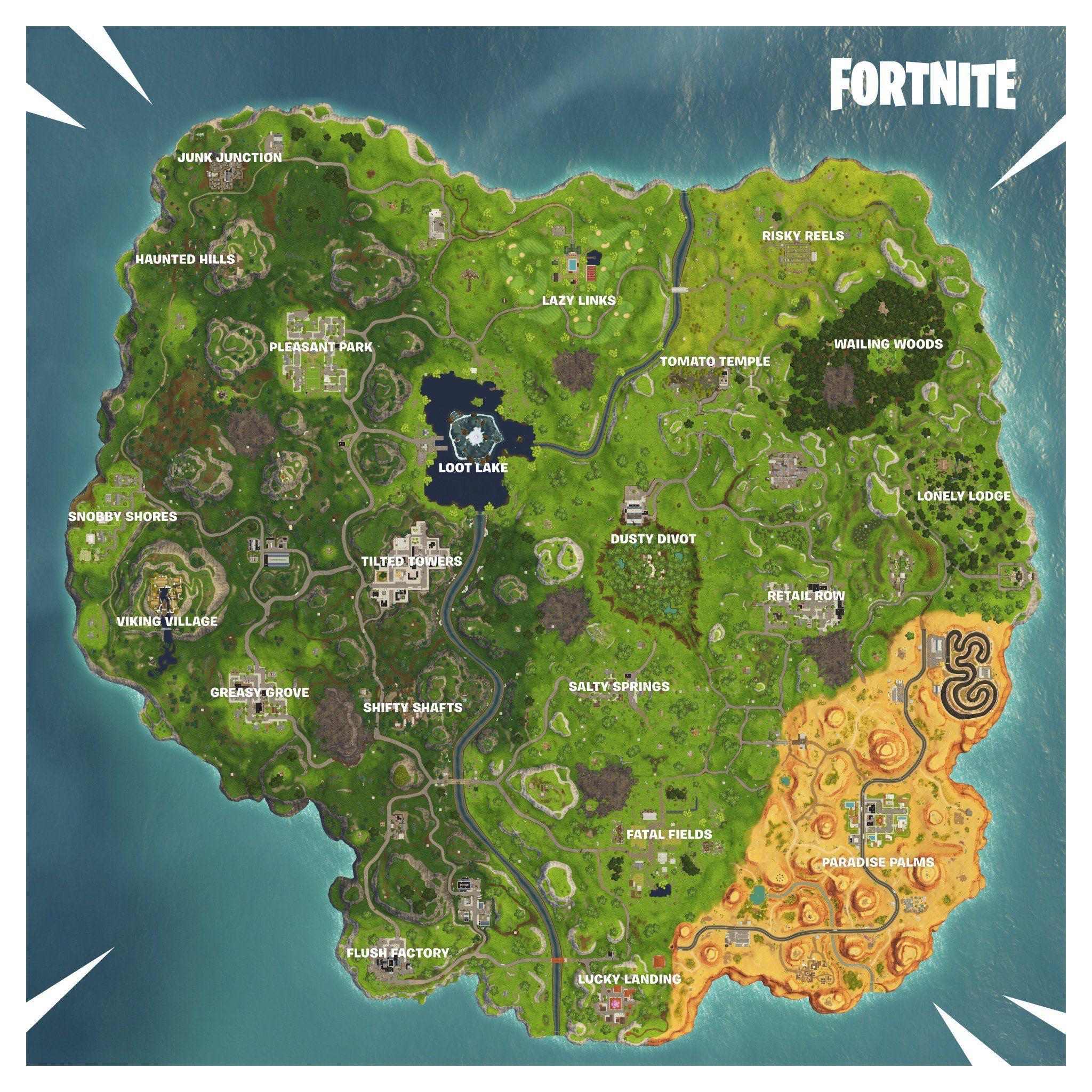 New Fortnite Season 6 Map With Images Fortnite Map Seasons