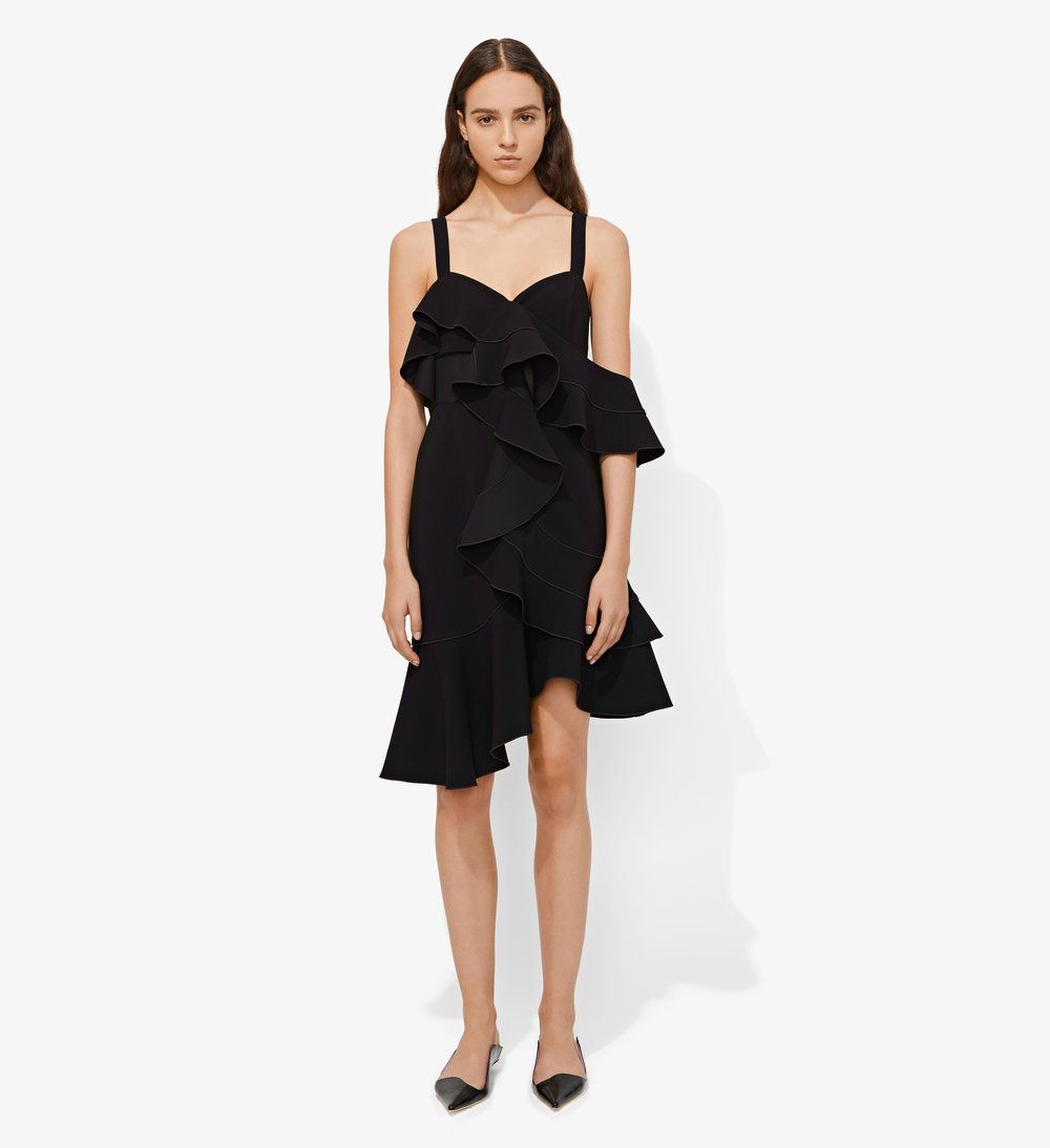 One shoulder short ruffle dress ruffle dress ruffles and shoulder