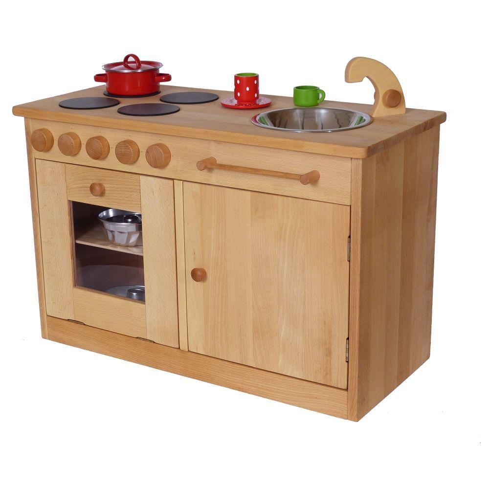 Kindergarten Spiel Küche Aus Massivholz Für U3 Kinder U2013 Pädagogisch  Wertvolles Spielen Erlernen