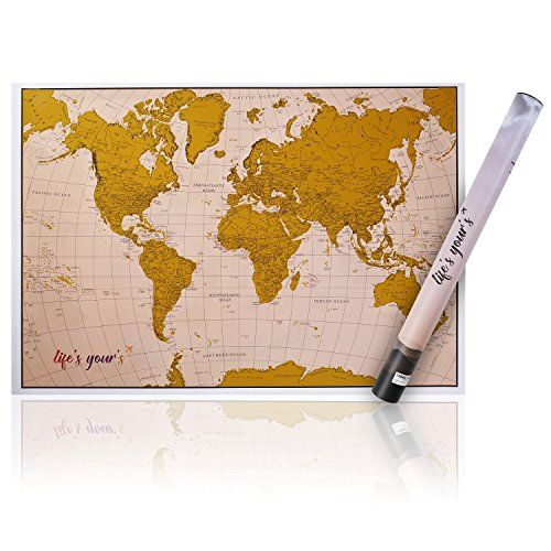 New Premium Scratchoff World Map Personalized Scratchable - High quality world map poster