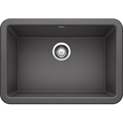 Blanco Ikon 27 L X 19 W Farmhouse Kitchen Sink Finish Cinder