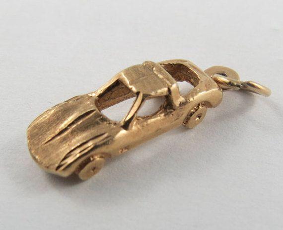 Corvette Stingray 10 Karat Gold Charm For Bracelet Gold Charm Gold Charm Bracelet Vintage Charms