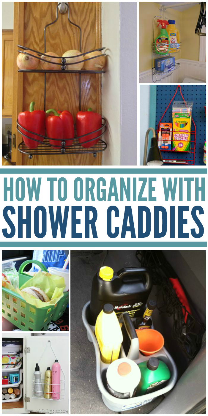 How to Organize With Shower Caddies In & Out of the Shower ...