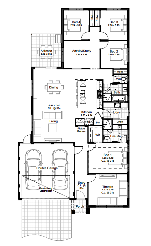 Utopia Floorplan No Logo 4 Bedroom House Plans House Plans House Blueprints