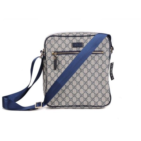 95c7307be7 Gucci Men s Large Messenger Bag With Canvas Blue 188