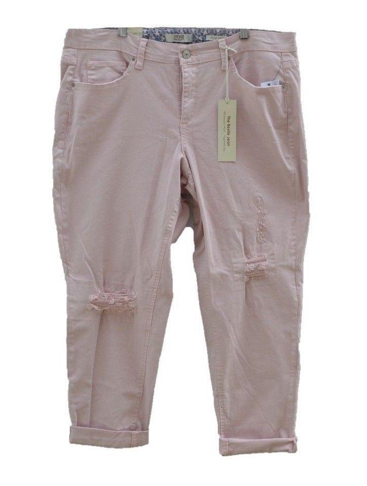 2c6f50eaa46 Vintage America Women s Pants Bestie Jean Rose Distressed Plus size 16W 33  NEW  VintageAmerica  Skinny
