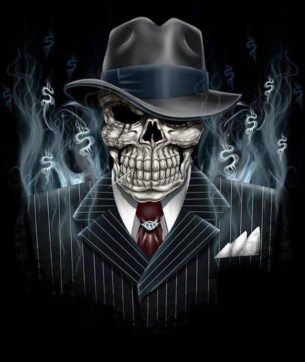 Gangster Skull Skull Art Skull Art