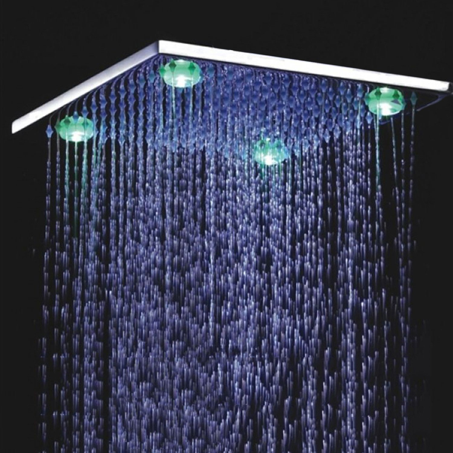 Ceiling Mounted Square LED Shower Head (8\