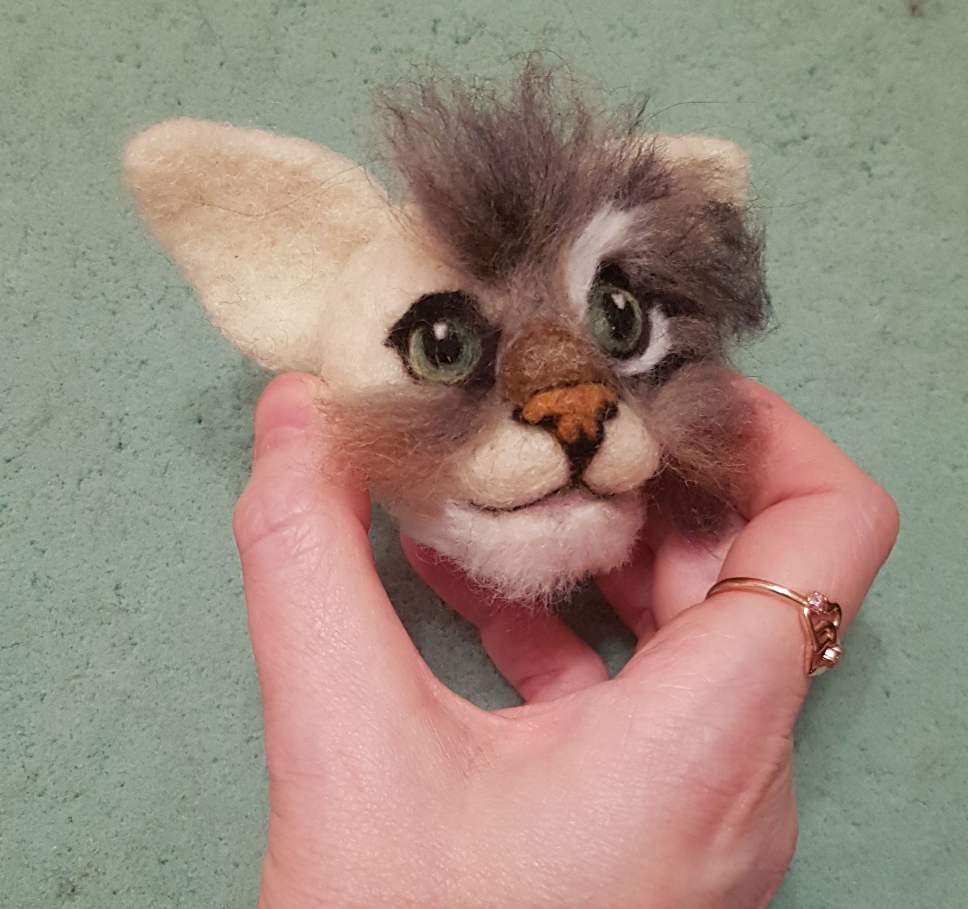 Fit to be loved | Needle felted animals. Tutorials, tips and more #needlefeltedcat