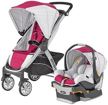 Chicco Bravo Trio Travel System Stroller Orchid Car Seat