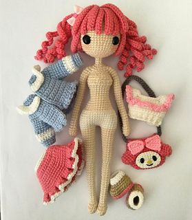 Melody 美樂蒂 pattern by Jeslyn Sim #crochetdolls