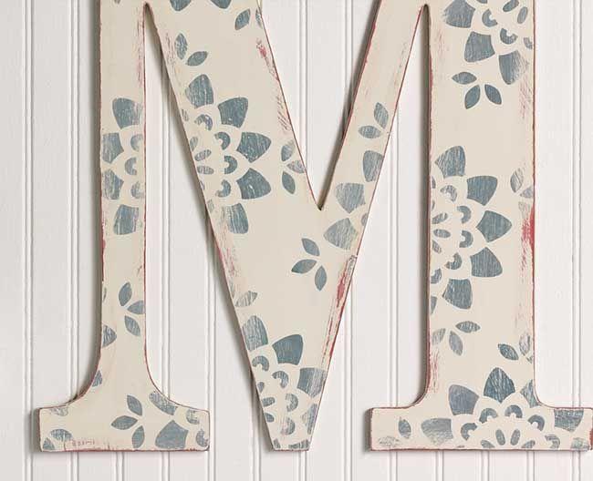 Michaels storesiras letterstiquedttern to match stenciled monogram letter martha stewart vintage dcor paint and the kaleidoscope flower stencil spiritdancerdesigns Choice Image