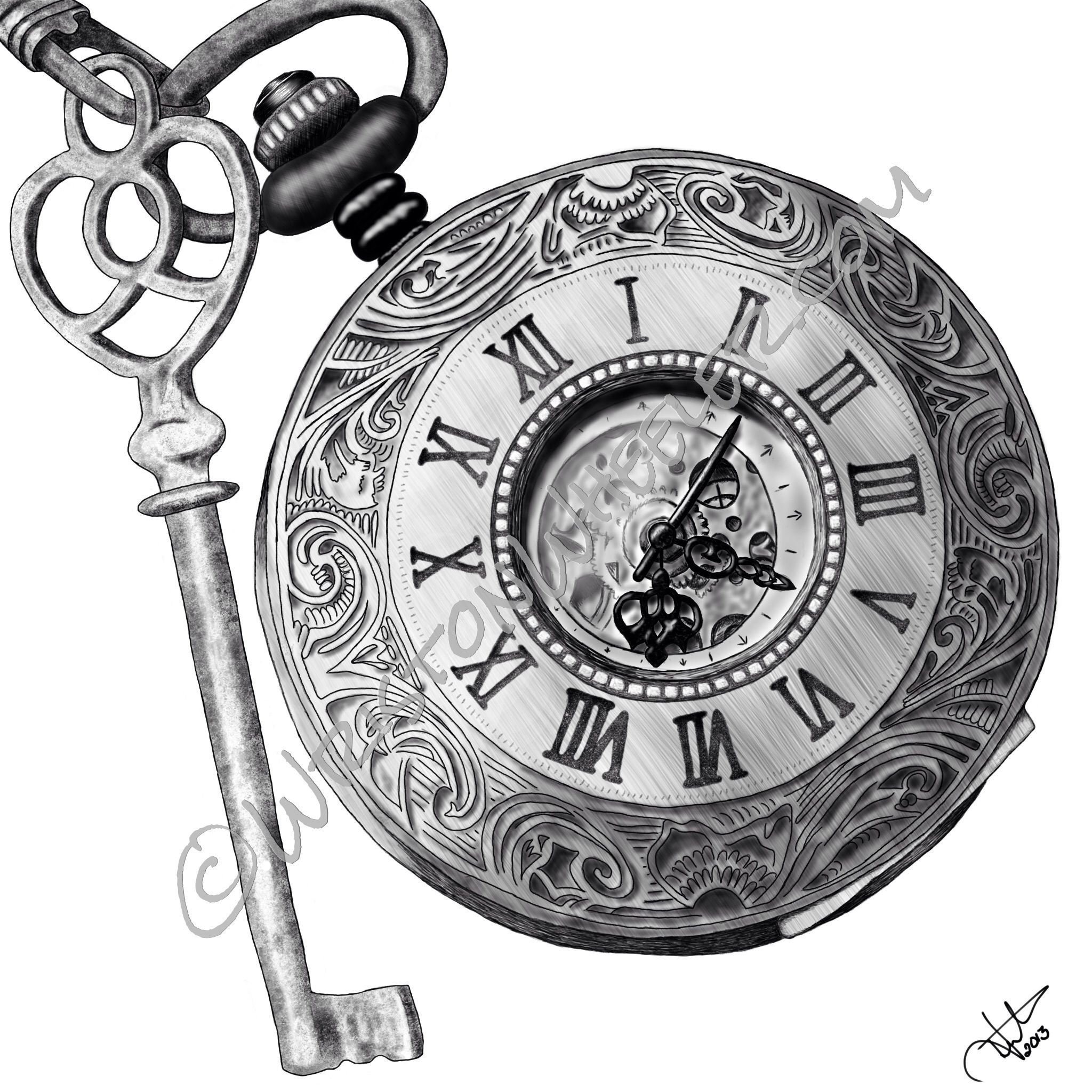 Pocket Watch Drawings: Timing Is Key Www.wristonwheeler.com