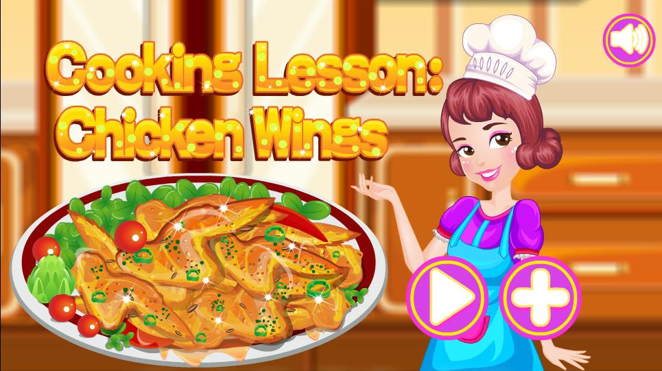 لعبة تعلم طبخ اجنحة الدجاج لعبة حلوة من العاب طبخ الرائعة جدا علي