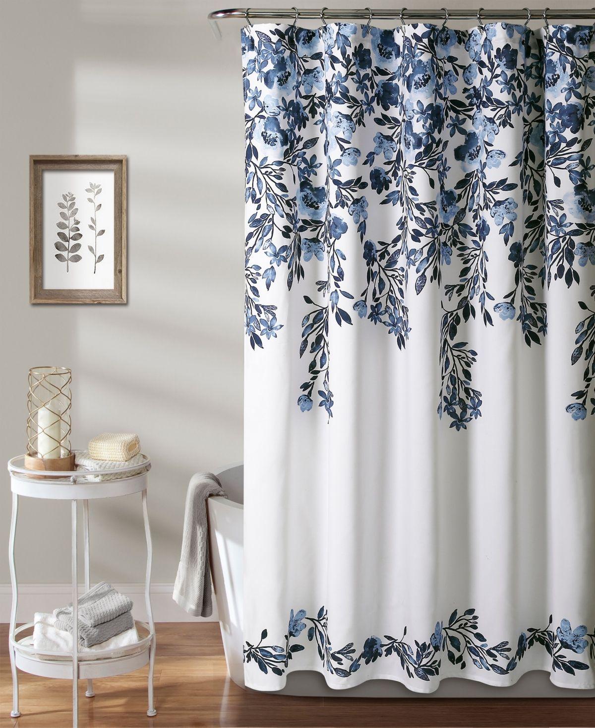 """Lush Décor Tanisha 72"""" x 72"""" Floral Shower Curtain"""