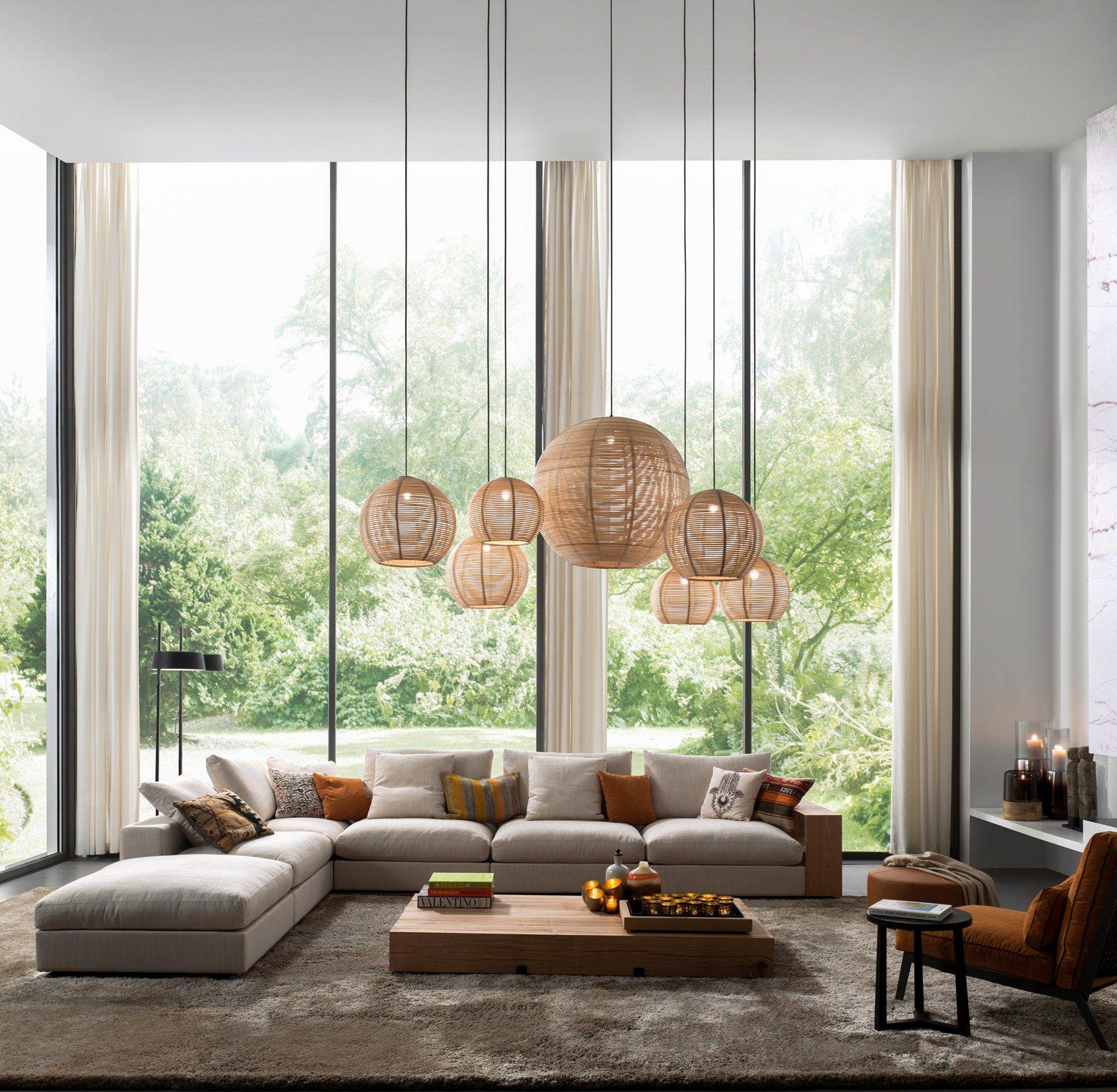 rattan pendant lamp sangha by dark at night living room on extraordinary living room ideas with lighting id=31699