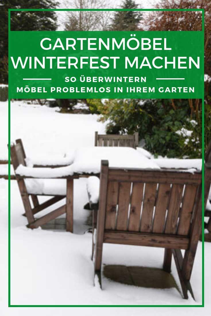 Gartenmöbel winterfest Herbst und Winter setzen
