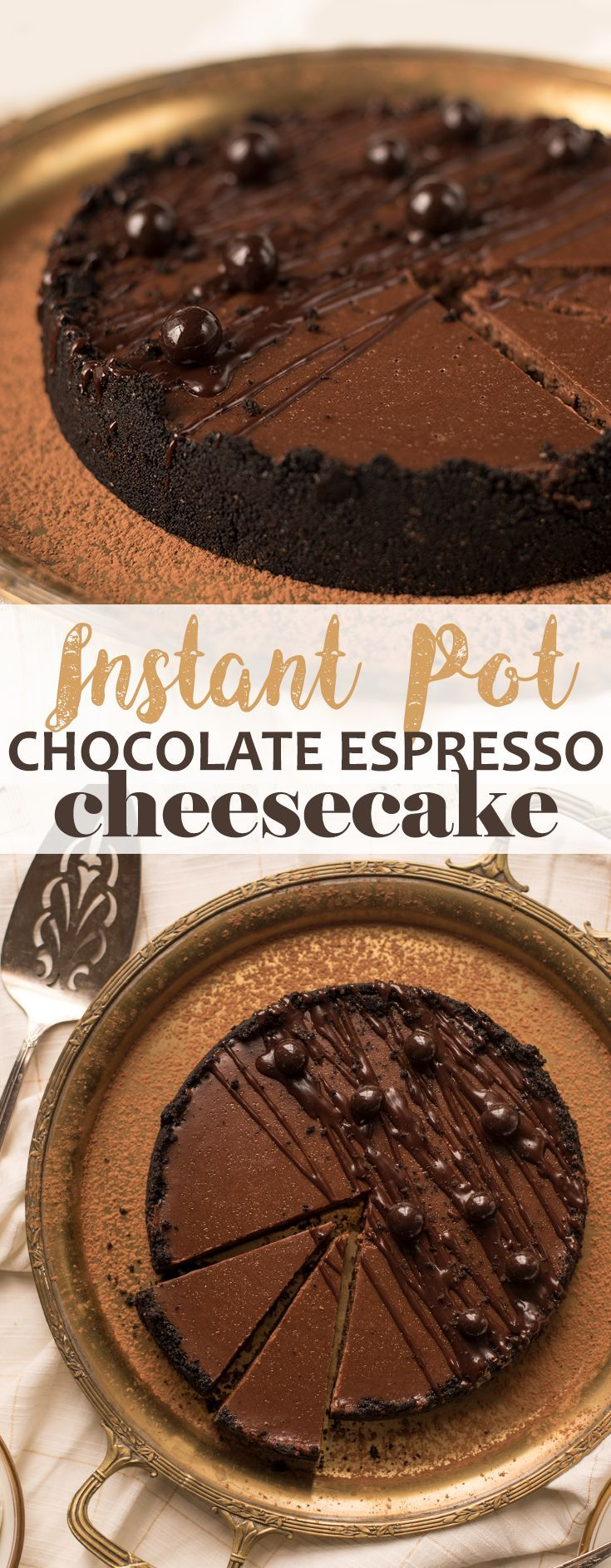 Follow our step-by-step instructions to make this flawless Instant Pot cheesecake with an Oreo crust and a creamy chocolate espresso filling. Give the love of your life a taste of indulgence!