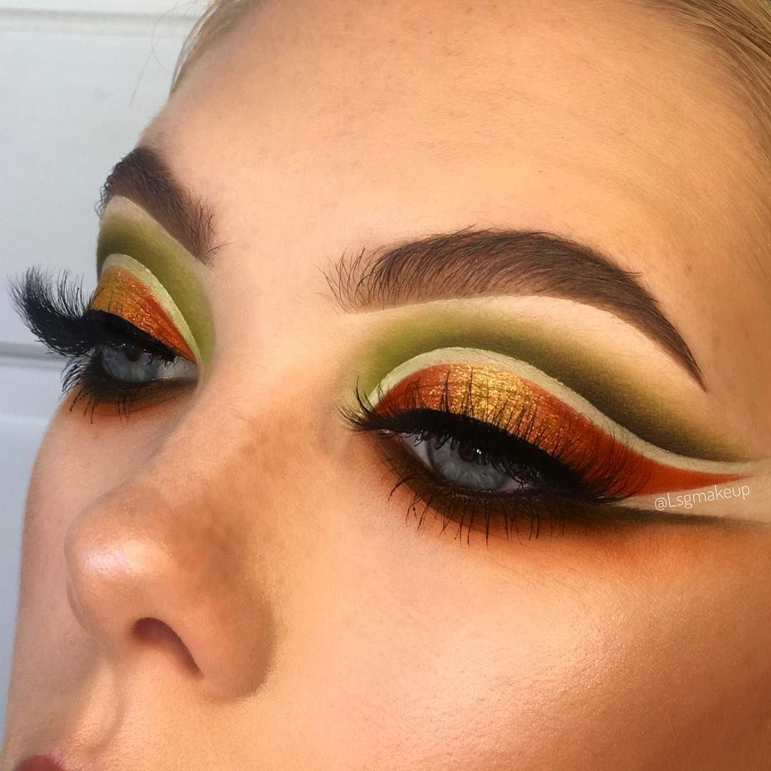 Pumpkin patch eye makeup