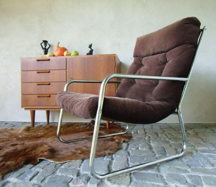 Stahlrohr Lounge Sessel 70er Jahre Von Madütt Auf Dawandacom