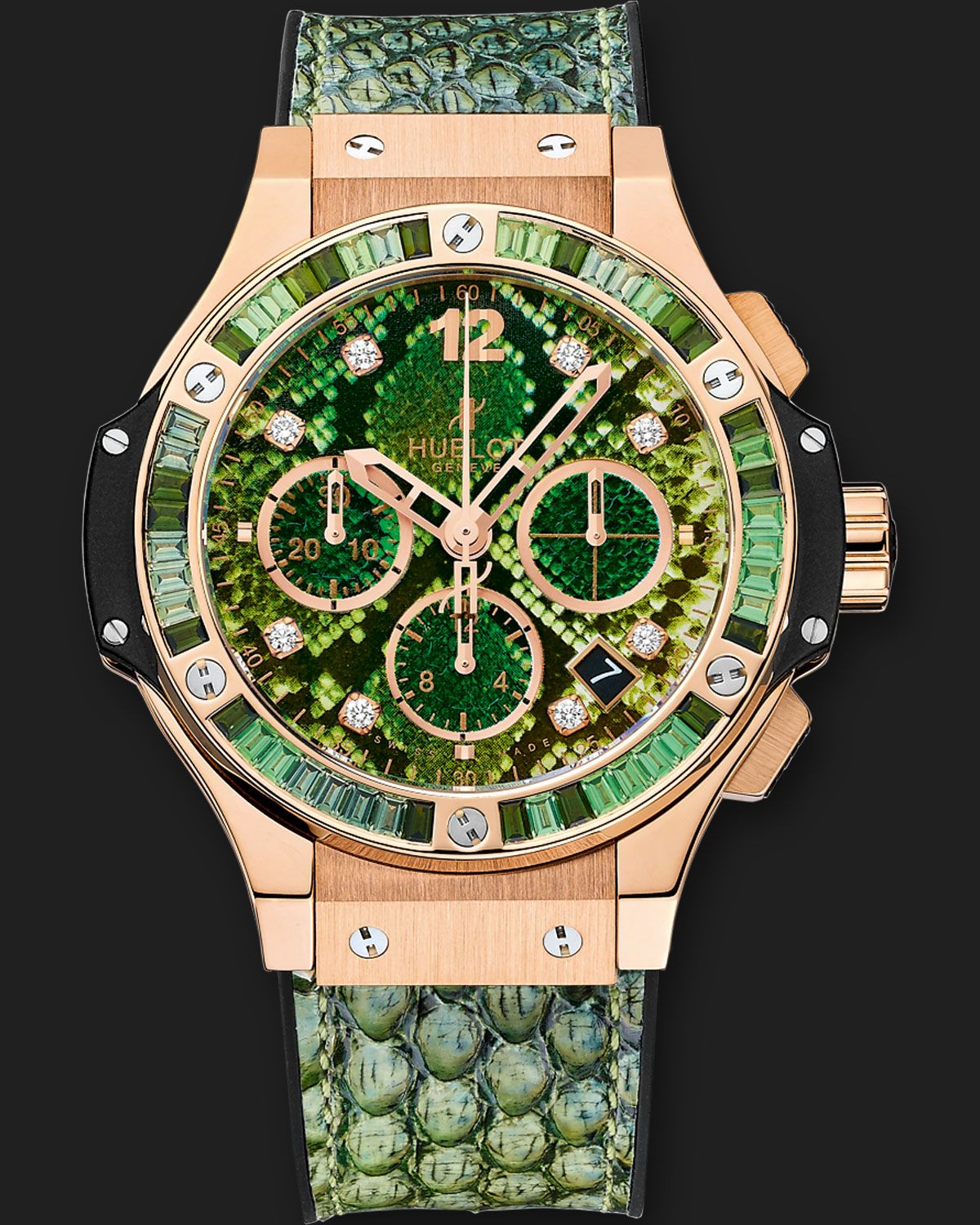 Hublot Boa Bang Gold Green - Big Bang - Rose Gold Green Sapphire ... c2d3e48c26