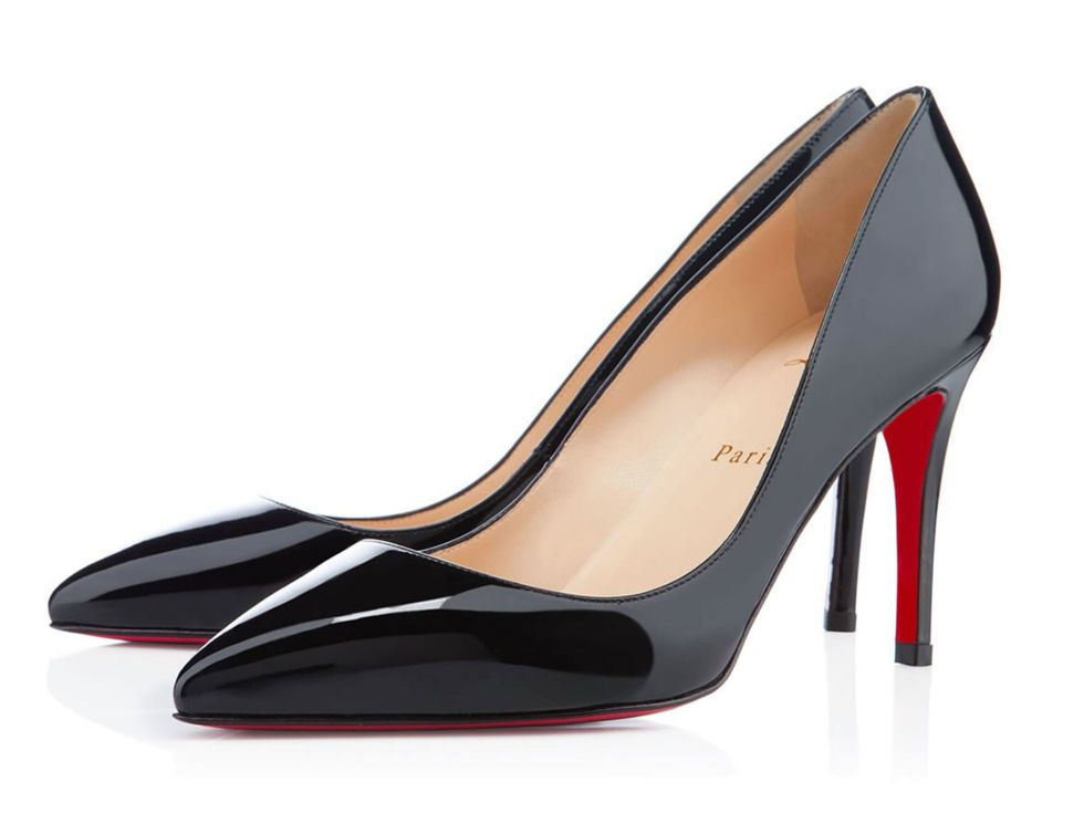 Louboutin's most iconic shoe has been worn by Kate Moss, Emma Watson and many more. The sleek patent design with a pointed toe and stiletto heel makes it perfect for many an occasion, whether it's solving a workwear dilemma or pairing with your little black dress. Christian Louboutin Pigalle court, £425