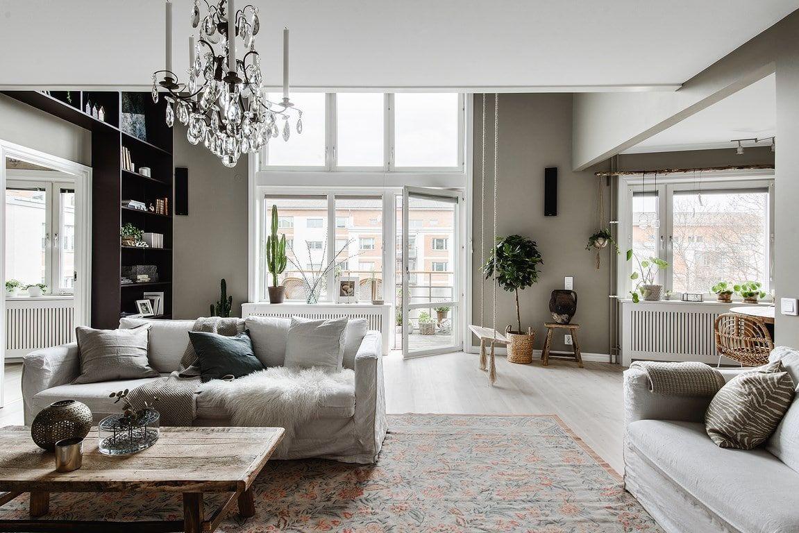 Choix esthétique affirmé, la décoration d\'un salon moderne ...