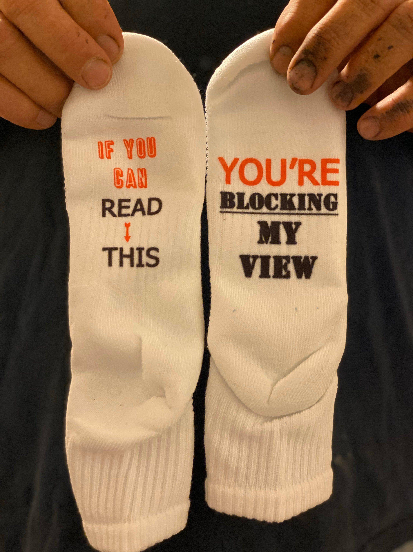 Words on socks Novelty Socks dad gift idea daddy socks custom socks Funny socks funny gift idea text on socks