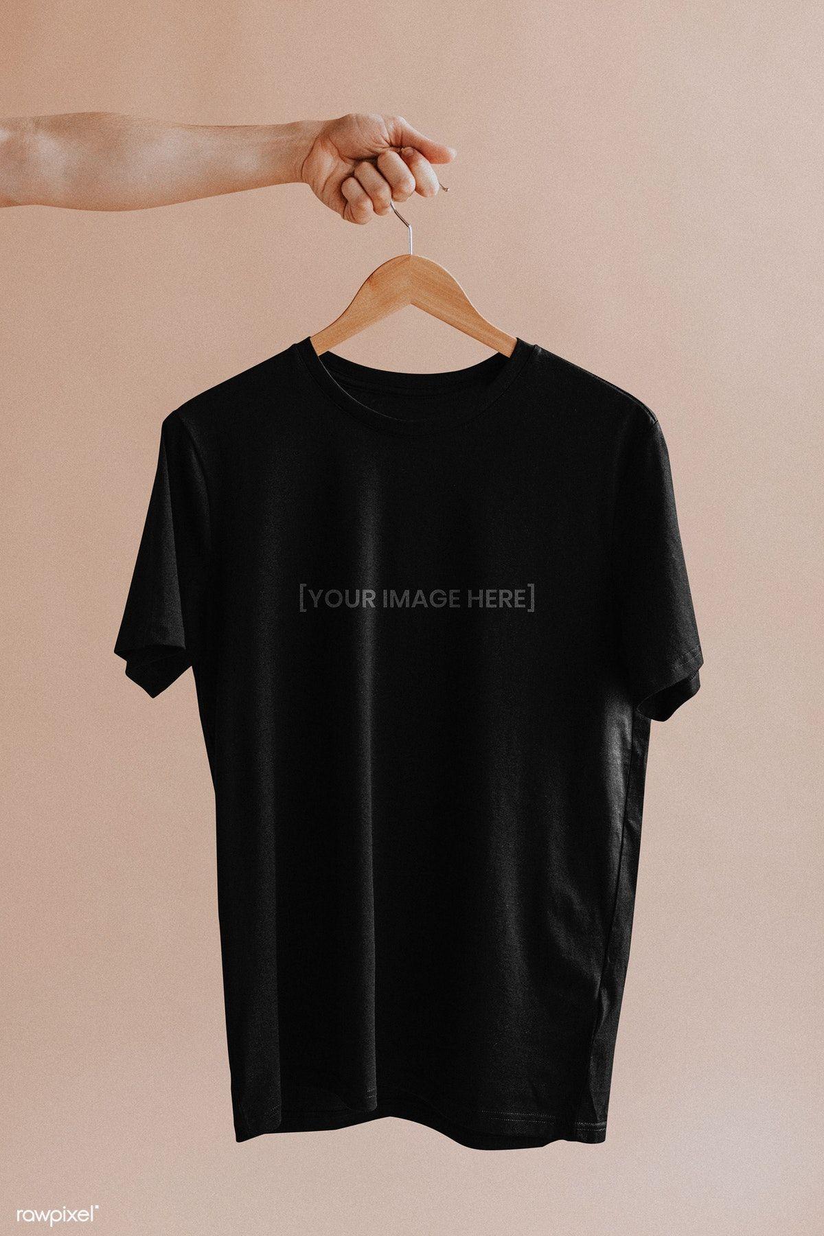 Download Download Premium Psd Of Shirt In A Hanger Mockup 1216446 Kasual Kaos Model Pakaian