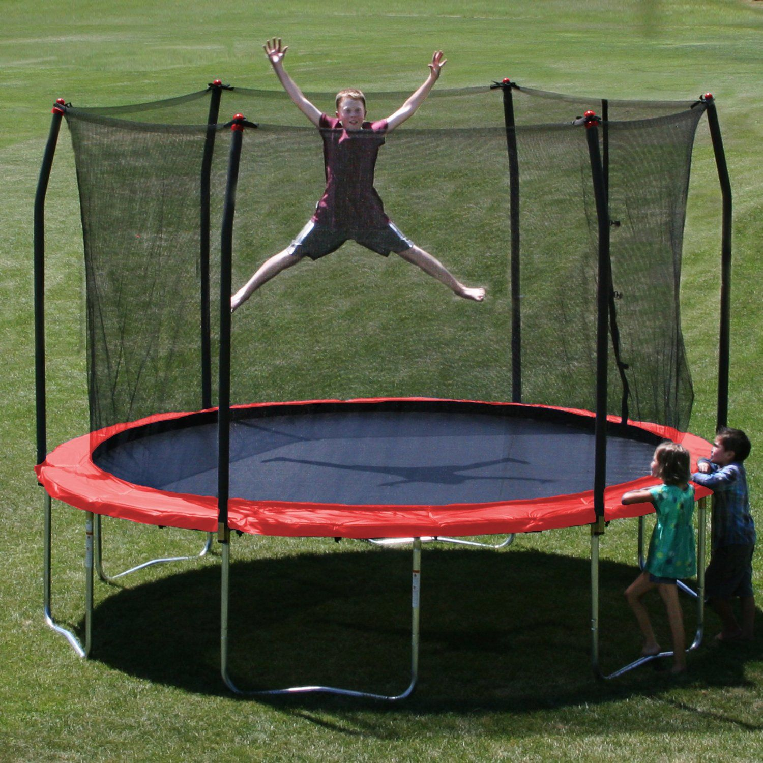 skywalker trampolines 12 feet round trampoline and enclosure with