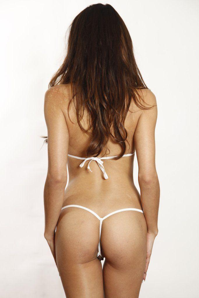 String crotchless bikini micro