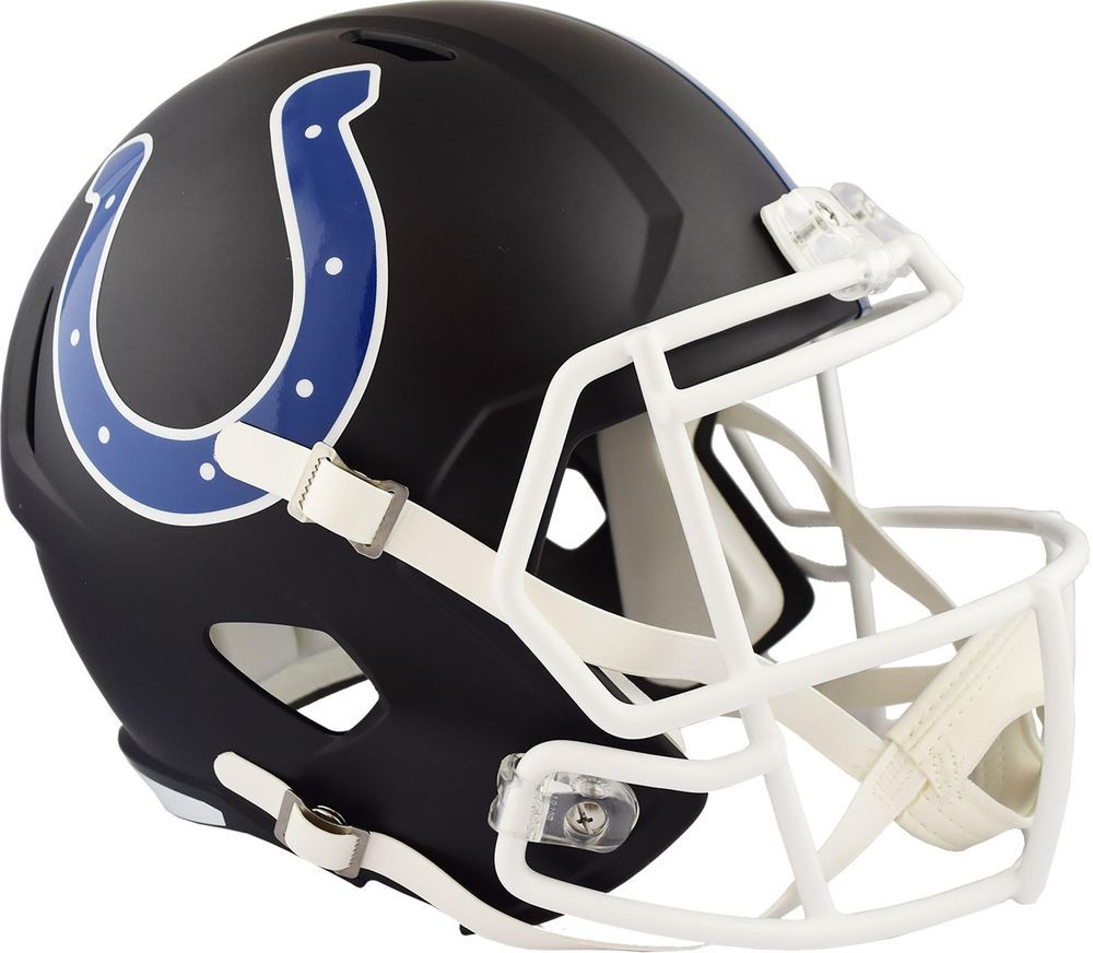 a9d24094 Riddell Indianapolis Colts Black Matte Alternate Speed Full-Size ...