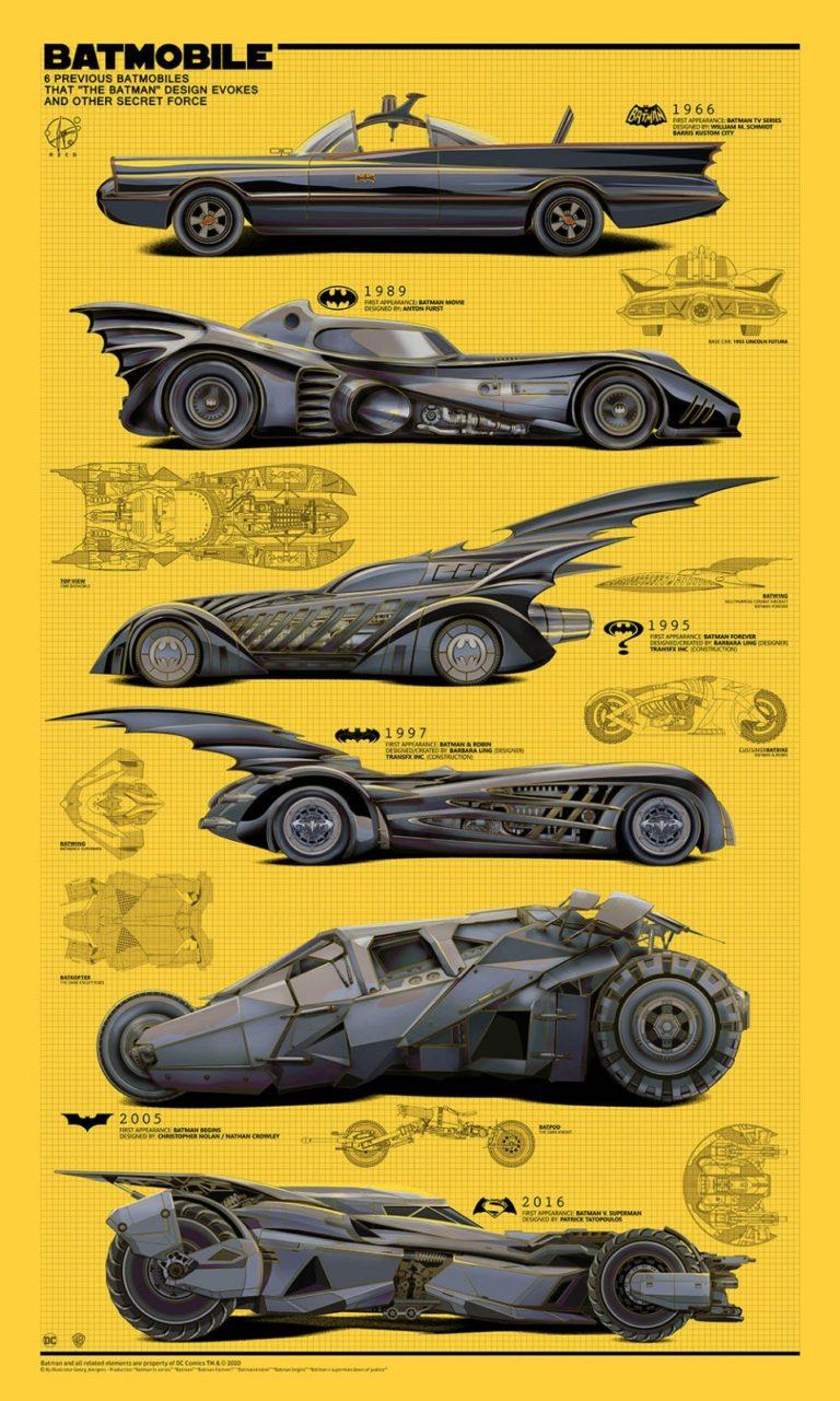 Here is Batman's Batmobile from 1966-2016