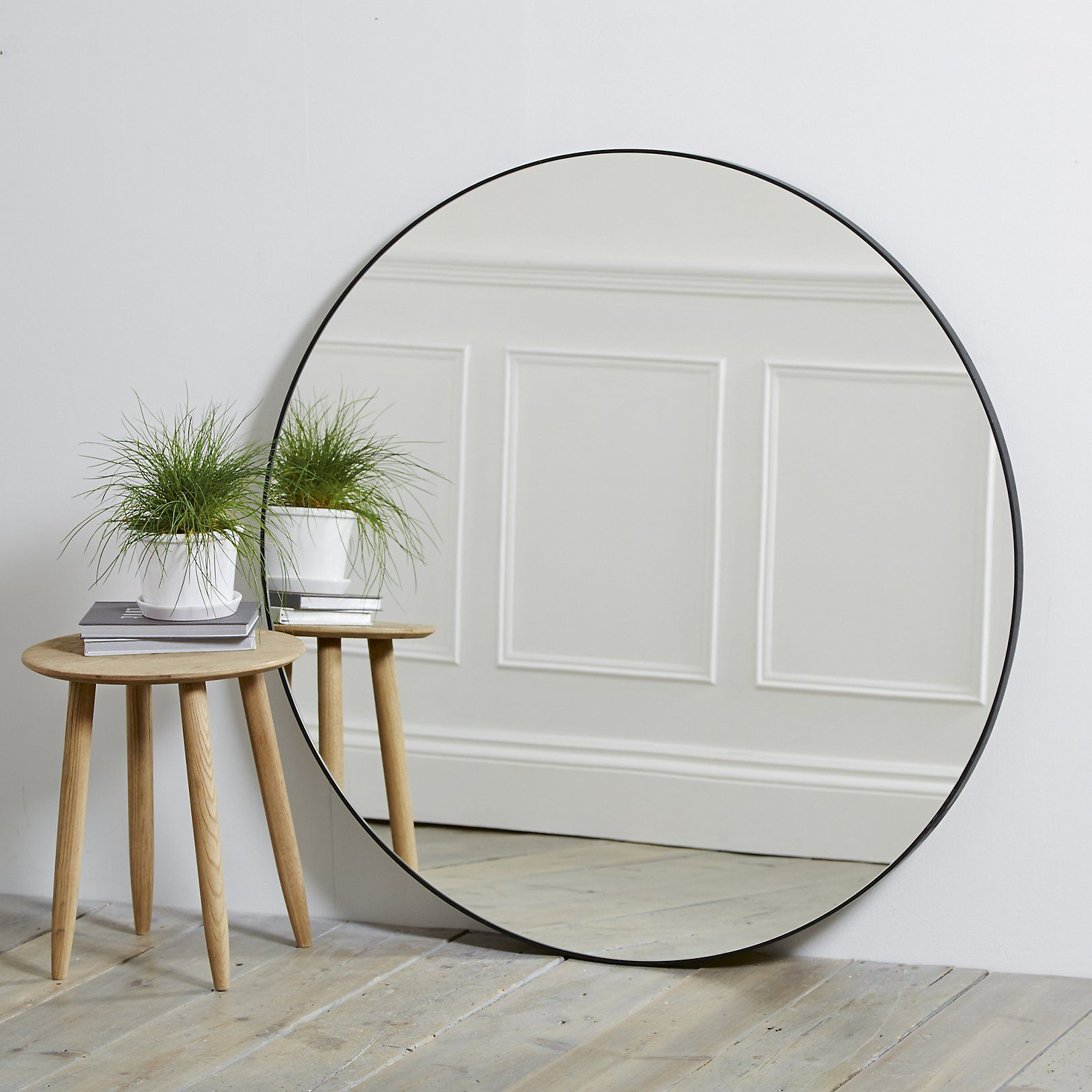 Chiltern thin metal round mirror the white company uk home chiltern thin metal round mirror the white company uk amipublicfo Images