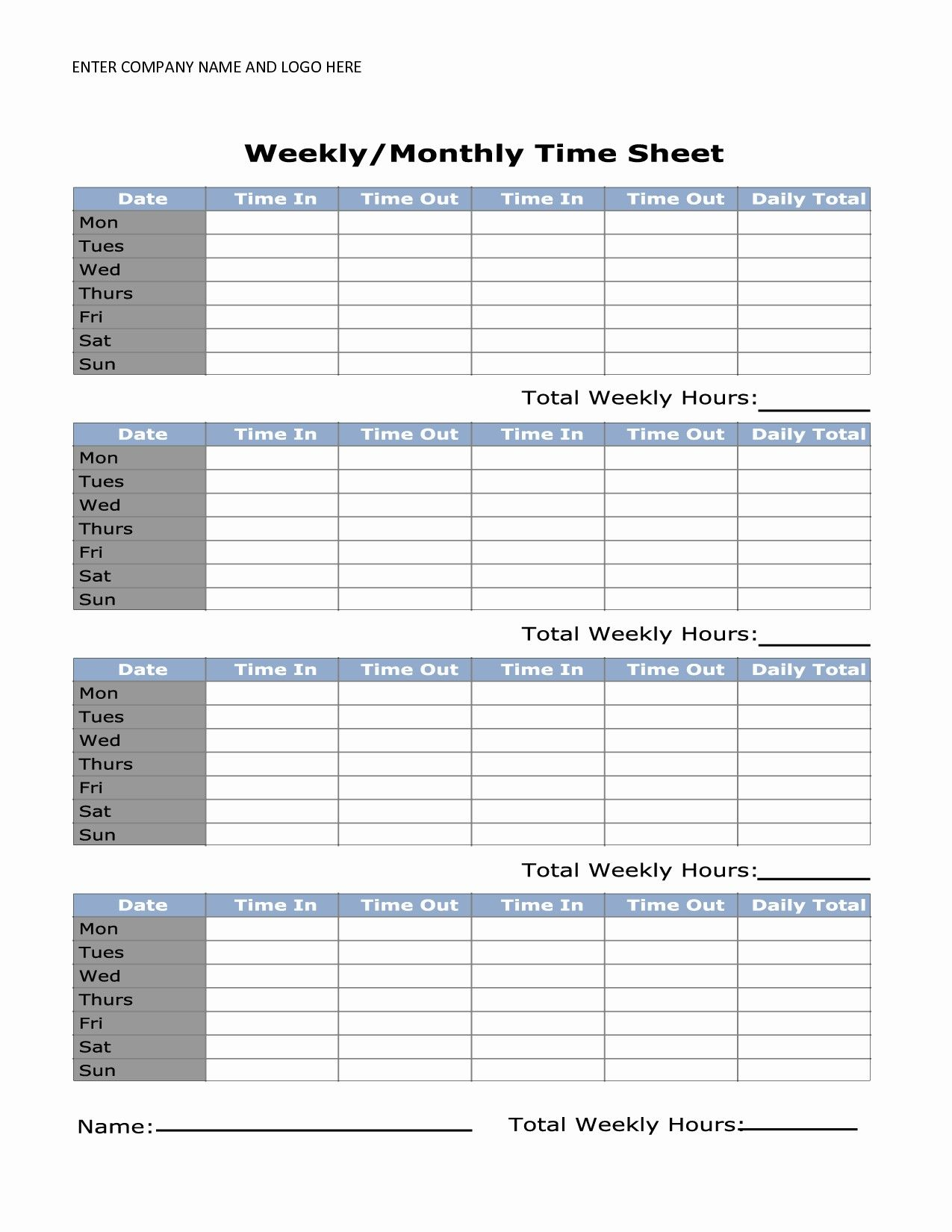 Monthly Timesheet Template Word from i.pinimg.com