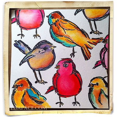 Scribbly Bird Obsession Delight In All Things Altered, Delightful Tutorials | Official Blog of Lisa M. Pace | It's in the Details