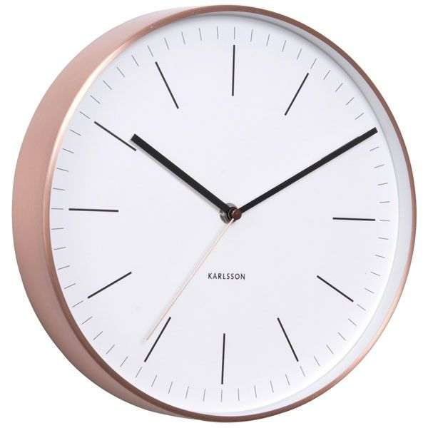 Karlsson Minimal Copper Clock