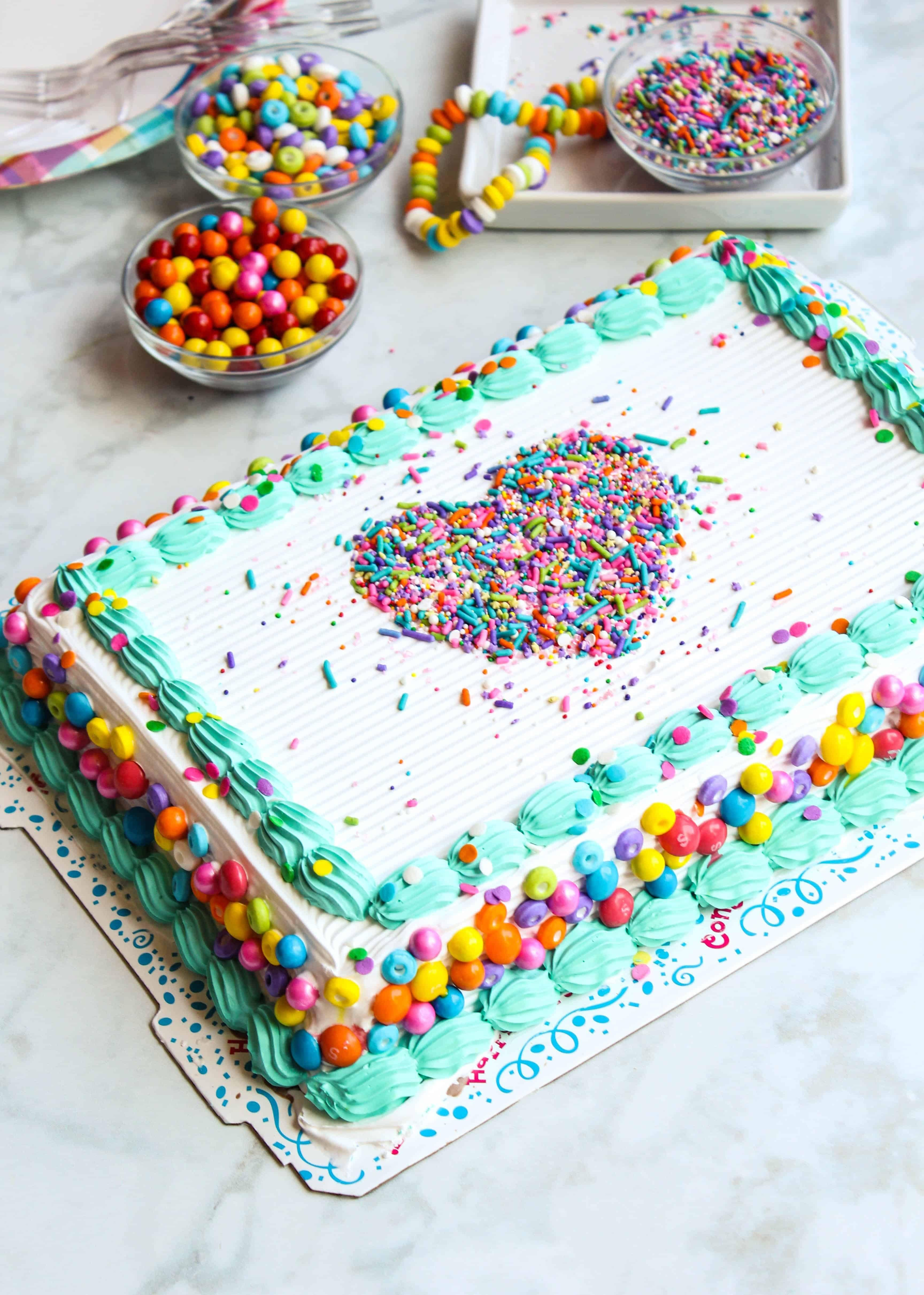 Easy Sprinkle Stencil Cake Recipe With Images Cake