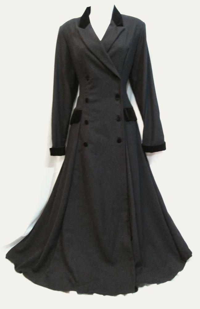 vintage laura ashley riding coat victorian edwardian 40s war bride mistress sexy. Black Bedroom Furniture Sets. Home Design Ideas