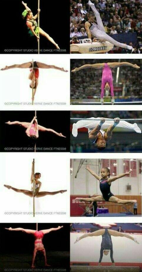 pole vs gymnastics pole moves pinterest pole dancing and pole