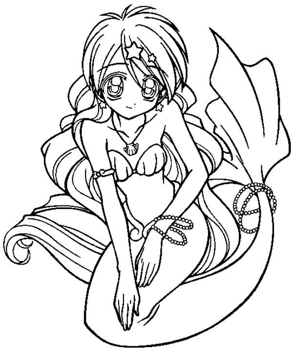 Document Beautiful Anime Mermaid Coloring Pages Coloring