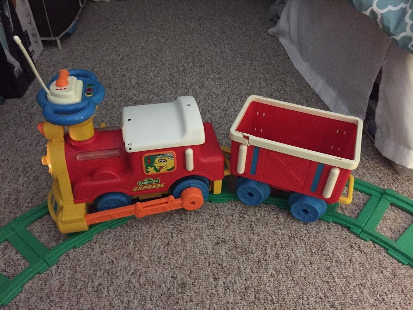 Toy Name Radio Control Ride On Sesame Street Express Train Chicco Musical Box Rabbit Blue With Gift Manufacturer Tyco Appearances Language Nursery 1997 2003 Baby Shakespeare 1999