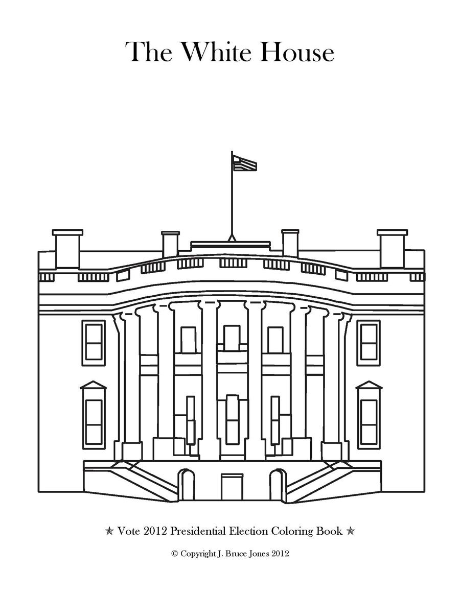 White House Coloring Page With Images House Colouring Pages