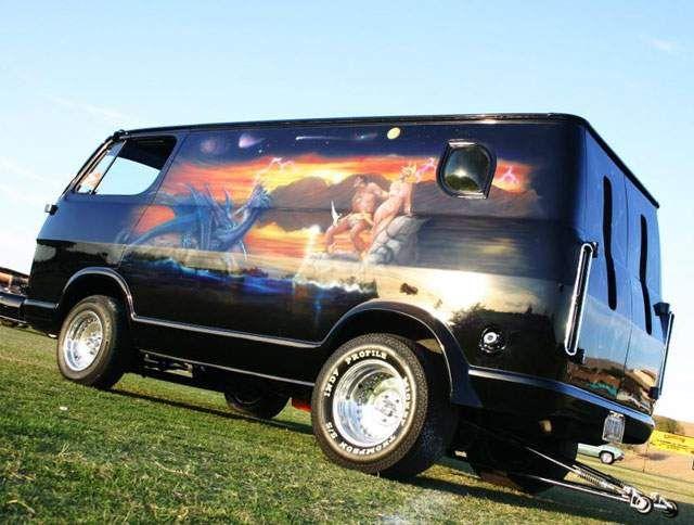 The 20 Awesomest Pieces Of Van Art Custom Vans Chevy Van Van