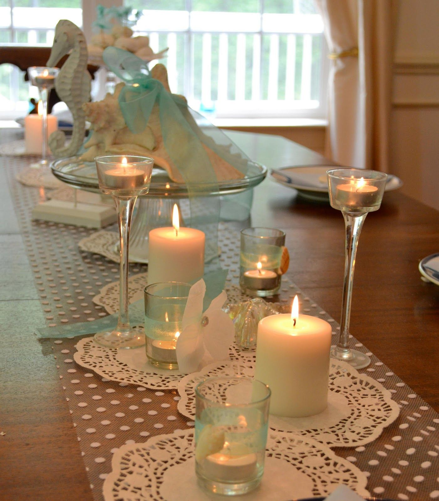 Beach bridal shower decorations cute ideas beach Wedding shower centerpieces