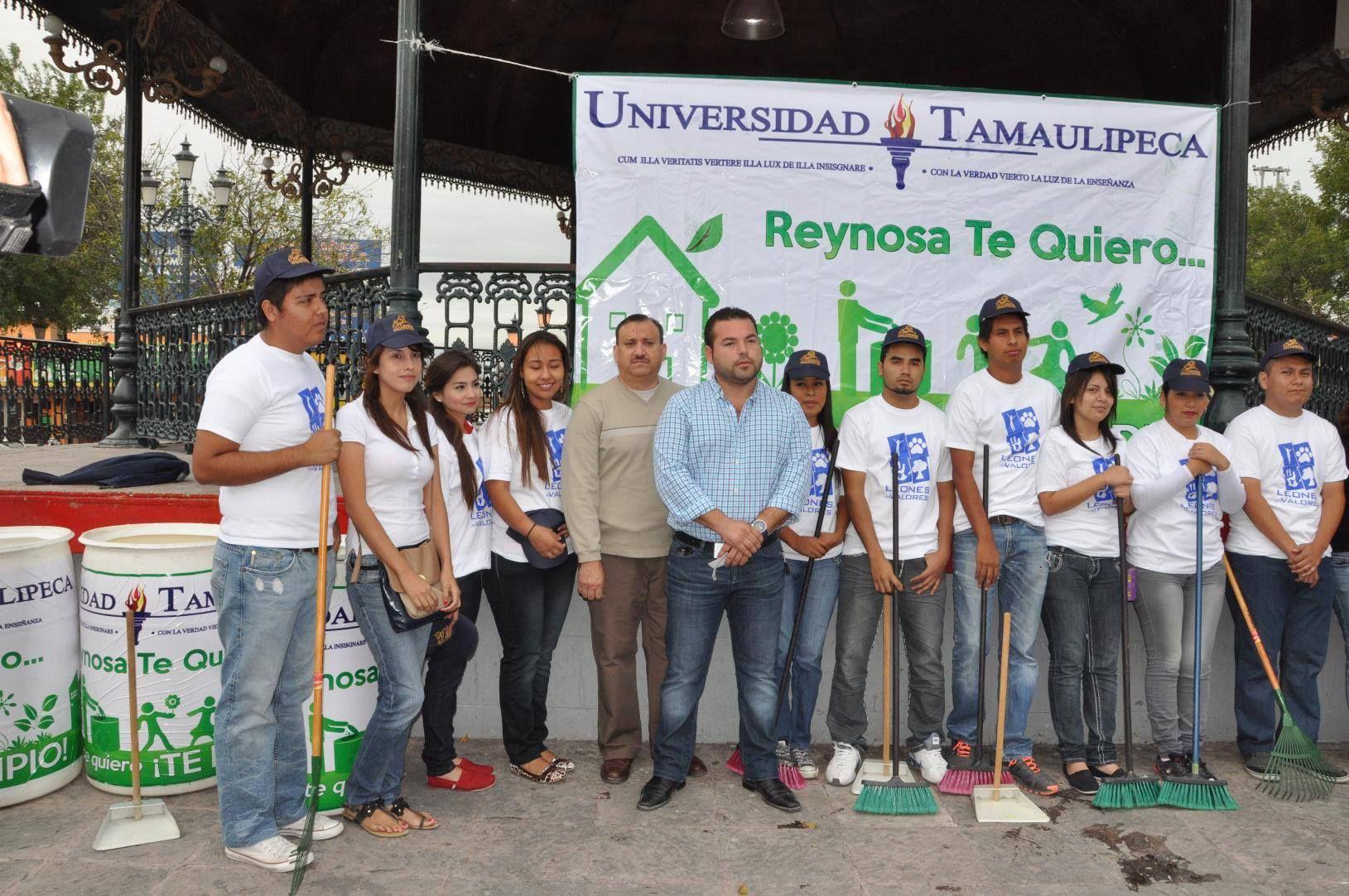 """La coordinación de esfuerzos entre la Universidad Tamaulipeca (UT) y el Ayuntamiento de Reynosa dio por resultado la organización del programa universitario """"#Reynosa te quiero… y porque te quiero ¡te limpio!""""."""