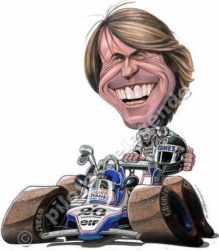 Jacques Laffite | Motor | Caricature, Formule 1 et ...