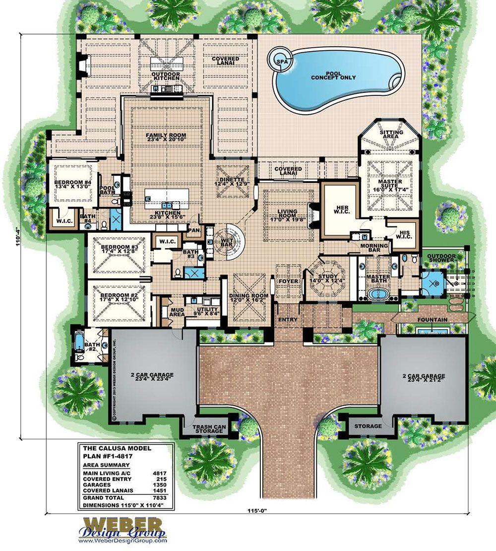 1 Story Modern Farmhouse Plan Nashville In 2020 Mediterranean Style House Plans Mediterranean House Plan Mediterranean Homes