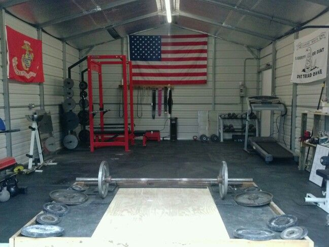 Home Gym In Metal Building Diy Homemade Deadlift Platform At Home Gym Home Gym Building A Home Gym